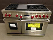 Wolf 48 Dual Fuel Range 6 Burners And Infrared Griddle Df486g 11250