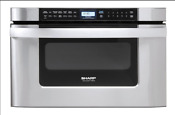 Sharp 24 In W 1 2 Cu Ft Built In Microwave Drawer Stainless Steel Kb6524psy