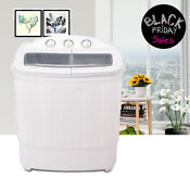 13 Lbs Portable Mini Washing Machine Compact Twin Tub Laundry Washer Spin Dryer