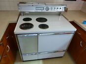 General Electric Range White W Stainless Trim 40 Wide