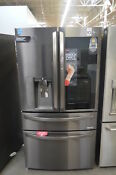 Lg Lmxc23796d 36 Black Stainless French 4 Door Refrigerator Nob Cd 26055 Hl