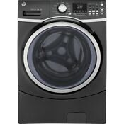 4 5 Cu Ft High Efficiency Diamond Gray Front Load Washing Machine With Steam