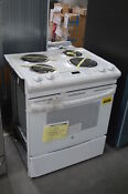 Ge Js250dfww 30 White Slide In Electric Range Nob 28661 Clw