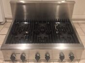 Thermador Professional 36 6 Star Gas Cooktop Range Top 12 Stainless Back Guard