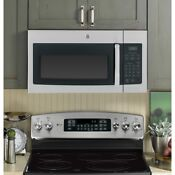 Ge 1000 Watts 1 6 Cu Ft Over The Range Microwave Oven In Stainless Steel