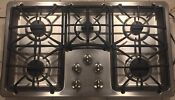 Ge Profile Pgp966setss 36 Stainless Black 5 Burner Gas Cooktop