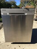Samsung Front Control Dishwasher Stainless Steel Interior Exterior Dw80j3020us