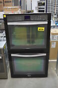 Whirlpool Wod93ec0ae 30 Black Double Electric Wall Steam Oven Nob 35398 Clw