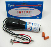 Supco Rco410 Refrigerator Relay Start Overload Capacitor 1 4 1 3 Hp 3 In 1