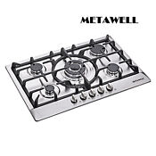 Metawell 3kw 30 Gas Stainless Steel Cooktop Stove Cook Top 5 Burner Silver Us
