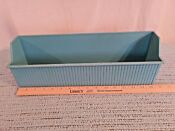 Vintage Mcm Turquoise Refrigerator Ice Saver Bin Container Holder Pan Rare Htf