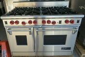 Wolf Gourmet Professional Ps488k 48 Gas Range Double Oven 8 Burners