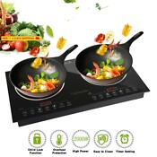 Trighteach Induction Cooktop 2000w Double Countertop Burner 2 Separate Heating