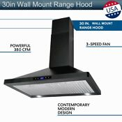 30 Under Cabinet Kitchen Range Hood 350cfm Stainless Steel 2 Fan Kitchen Vent