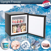 Upright Freezer Refrigerator Chest Frozen Food Cold Storage Shelf Stainlesssteel