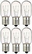 6 Pack 40 Watts Microwave Replacement Bulbs For Most Ge Ovens Replace Wb36x10003
