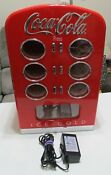 Retro Coca Cola Vending Fridge Machine Mini Soda Refrigerator Coke Cooler