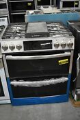 Ge Profile Pgs960selss 30 Stainless Slide In Dbl Oven Gas Range Nob 42263