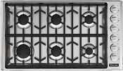 Viking Vgsu5366bss 36 Stainless Gas Sealed Burner Cooktop Nob 47275 Hrt