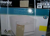 Danby 6 Place Setting Compact Counter Top Dishwasher White Ddw621wdb Dented