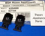Set Of 2 New Genuine Oem Bosch 429400 00429400 Dishwasher Black Control Buttons