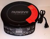 Nuwave Precision Introduction Cooktop Portable Black Pic Flex W 10 5 Pan 30532