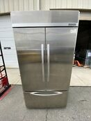 Kitchenaid Architect Series Ii Kbfc42fts 24 2 Cu Ft French Door Refrigerator