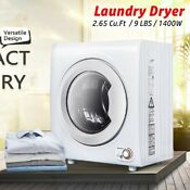 1400w 2 65 Cu Ft Compact Laundry Dryer 9 Lbs Portable Clothes Dryer Heating