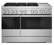 Noir 48 Dual Fuel Professional Range With Chrome Infused Griddle