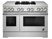 Rise 48 Dual Fuel Professional Range With Dual Chrome Infused Griddles