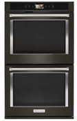 Kitchenaid 30in Black Stainless Steel Smart Double Wall Oven Power Kode900hbs