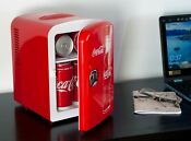 Retro Coca Cola 6 Can Personal Mini Cooler And Fridge Vintage Look For Office