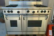 Wolf Pro Style R484f 48 Gas Range Double Oven 4 Burner French Top