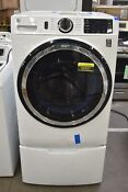 Ge Gfw550ssnww 28 White Front Load Washer And Pedestal Nob 92557 Hrt