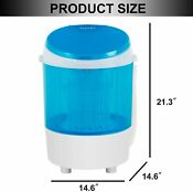11lbs Semi Automatic Mini Electric Compact Portable Counter Laundry Washing