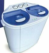 Mini Portable Compact Twin Tub Washing Machine Wash Spin Cycle Drain 13 Lbs New