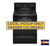 New Whirlpool 4 8 Cu Ft Electric Range In Black W 5year Epp Wfe320m0eb
