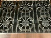 Viking Professional 36 Inch Pro Style Gas Range 6 Burners Stainless Steel
