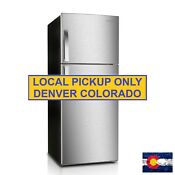 New Premium 12 Cu Ft Frost Free Top Freezer Refrigerator In Stainless Steel