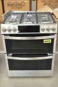 Ge Profile Pgs960selss 30 Stainless Slide In Double Oven Gas Range Nob 104968