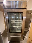Subzero Bi36ug S Ph 36 Classic Over Under Refrigerator W Glass Door