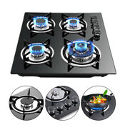 23 Built In Gas Stove Lpg Ng Gas Cooktop 4 Burners Cooker Tempered Glass Surface