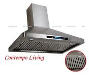 Xtreme Air 36 European Wall Mount Stainless Steel Range Hood With Baffle Filter