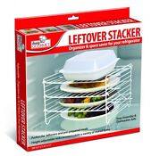 Leftover Stacker Refridgerator Shelf Organizer Save Space Adjustable Racks Food