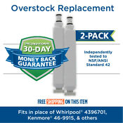 Fits Whirlpool 4396701 Edr6d1 Filter Comparable Fridge Water Filter 2 Pack