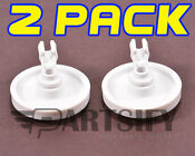 2 Pack New Ps452448 Dishwasher Lower Rack Wheel Clip Fits Frigidaire Kenmore