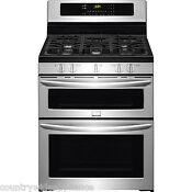 Frigidaire Stainless Steel 30 Gas Freestanding Double Oven Range Fggf304dpf