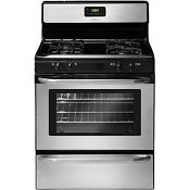 Frigidaire Stainless Steel 30 Gas 4 2 Cubic Foot Freestanding Range Ffgf3047ls