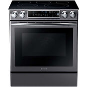 Samsung Black Stainless 30 Electric Slide In Convection Range Ne58k9500sg