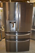 Lg Lmxc23746d 36 Black Stainless Counter Depth Refrigerator Nob 14273 Clw